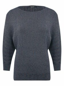 Women's Ladies Spirit metallic ribbed jumper