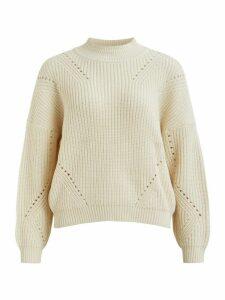 Women's VILA ladies long sleeve cable knit jumper
