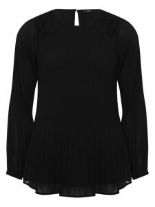 Women's Ladies long sleeve pleated lace blouse
