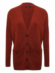 Women's Ladies long cardigan with button front