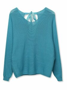 Women's Sonder Studio ladies tie back batwing jumper