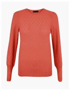 M&S Collection Diamond Stitch Jumper