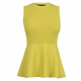 Theory Textured Shell Glossed Top