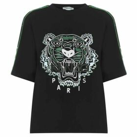 Kenzo Sea Lily Crepe Tiger Top