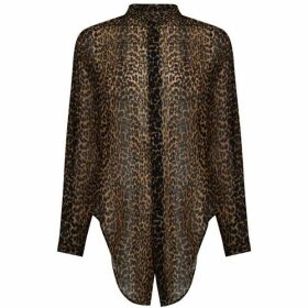 Saint Laurent Leo Sheer Shirt