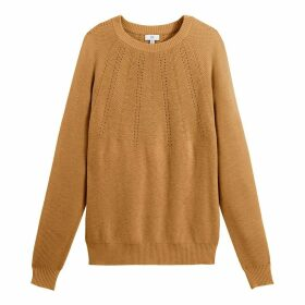 Fine Openwork Detail Jumper with Crew-Neck