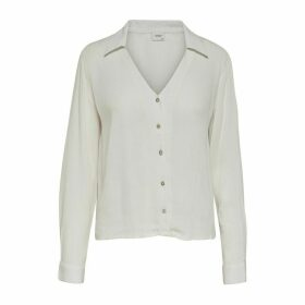 Long-Sleeved Buttoned Blouse
