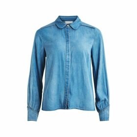 Denim Shirt with Peter Pan-Collar