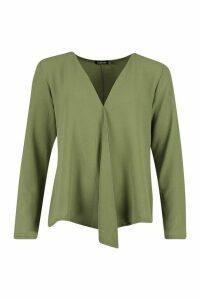 Womens Woven Long Sleeve Blouse - green - 16, Green