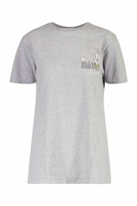 Womens Disney Daisy Duck Pocket Print T-Shirt - grey - M, Grey