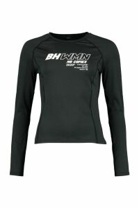 Womens Fit Woman Long Sleeve Running Top - black - 16, Black