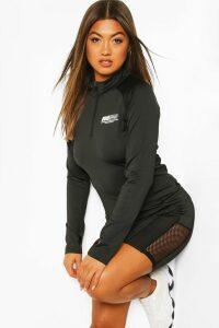 Fit Women Half Zip Gym Top - black - 16, Black