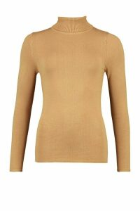 Womens Tall Crew Neck Fine Knit Jumper - beige - M, Beige