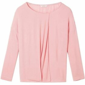 Sandwich Crepe Top With Pleat Detail