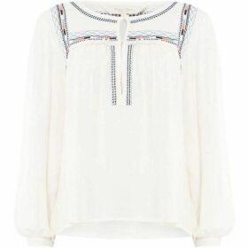 Part Two Keisha trim contrast blouse