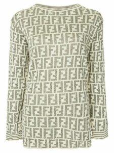 Fendi Pre-Owned monogram intarsia jumper - NEUTRALS