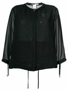 Chanel Pre-Owned sheer cardigan - Black