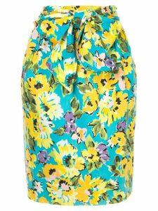 Yves Saint Laurent Pre-Owned flower pattern skirt - Multicolour