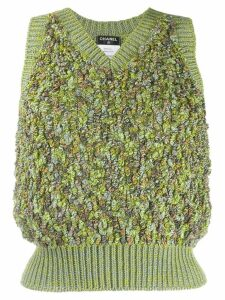 Chanel Pre-Owned knitted skirt suit - Green