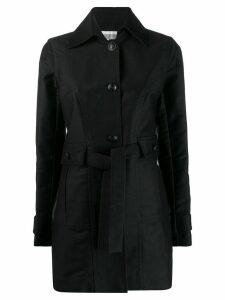 Chanel Pre-Owned 2007's tied midi coat - Black