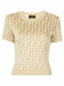 Fendi Pre-Owned Zucca Pattern Short Sleeve Tops - Yellow