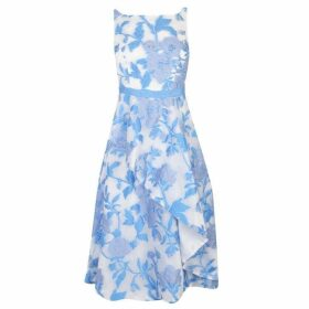 Adrianna Papell Organza Floral Dress