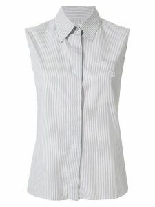 Chanel Pre-Owned 1999 striped CC shirt - Grey
