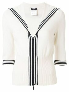 Chanel Pre-Owned sailor collar cardigan - White