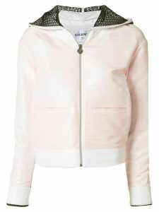 Chanel Pre-Owned back mesh panel jacket - PINK