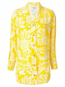 Chanel Pre-Owned silk floral shirt - Yellow
