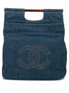 Chanel Pre-Owned 1997 CC denim tote - Blue