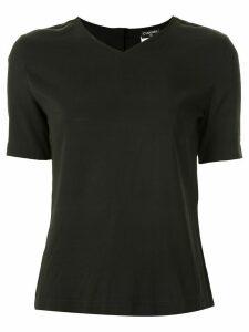 Chanel Pre-Owned V-neck T-shirt - Black