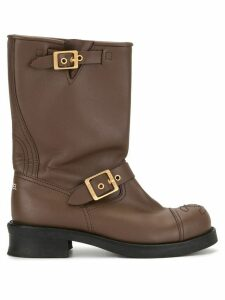 Chanel Pre-Owned buckle CC boots - Brown