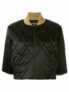 Chanel Pre-Owned cropped padded jacket - Black