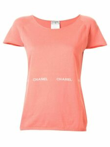 Chanel Pre-Owned 2004 logo print T-shirt - PINK