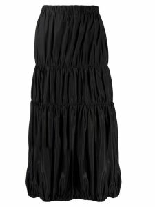 Yohji Yamamoto Pre-Owned 2000s gathered midi skirt - Black