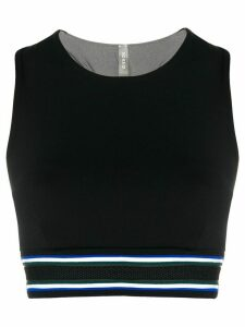 No Ka' Oi striped trim top - Black