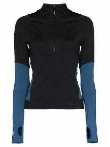 adidas X Stella McCartney panelled sports top - Black