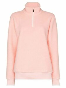 Sweaty Betty ski shearling half zip jumper - PINK