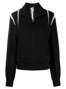 No Ka' Oi zip-up monochrome track jacket - Black