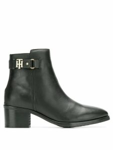 Tommy Hilfiger leather ankle boots - Black