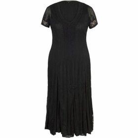 Chesca Border Lace Crush Pleat Dress