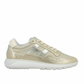 Hogan Sneakers Hogan Interactive Cube Sneakers In Laminated Leather And Lurex Mesh
