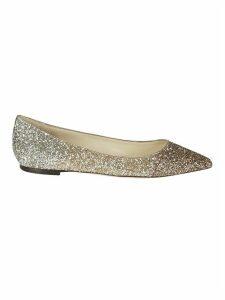 Jimmy Choo Romy Flat Glittery Ballerinas
