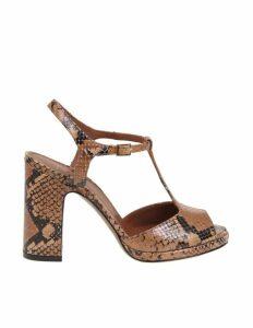Lautre Chose Pythoned Leather Sandal