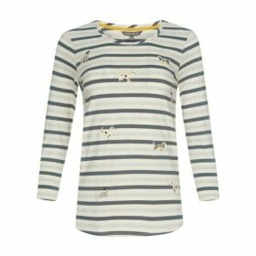 Jersey Stripe Embroidered Dog Top