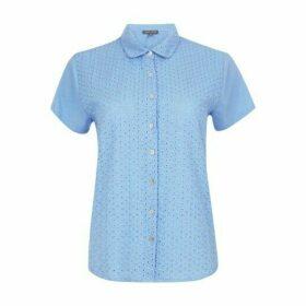 Blue Broderie Shirt