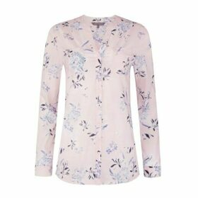 Osterley Floral Button Through Voile Blouse