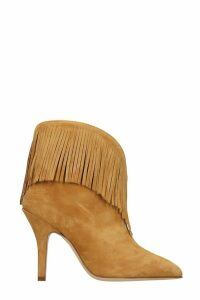 Paris Texas High Heels Ankle Boots In Leather Color Suede