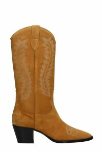 Paris Texas Texan Boots In Leather Color Suede